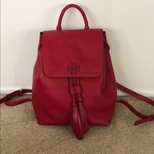 NEW Tory Burch Taylor With Tassel Leather Backpack